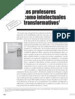 Los Profesores Como Intelectuales Transformativos Henry Giroux
