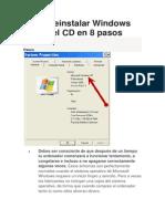 Cómo reinstalar Windows XP sin el CD en 8 pasos