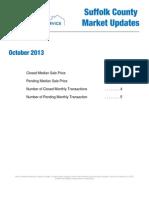 October 2013 Suffolk County Market Updates