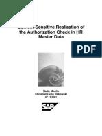 SAP - Structural Authorizations