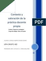 Contexto y valoracion de la practica docente propia- diagnostico pedagógico