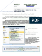 Quitar Inf Pers Powerpointl 2007