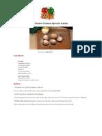 Cream Cheese Apricot Cakes