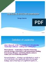 Energizing Effective Leadership