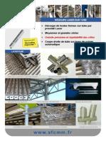 Plaquette SFCMM - Decoupe Laser Sur Tubes
