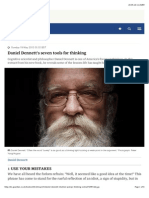 Daniel Dennett's Seven Tools for Thinking