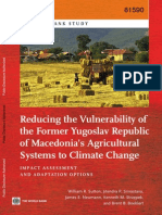 Reducing the Vulnerability of the Former Yugoslav Republic of Macedonia's Agricultural Systems to Climate Change