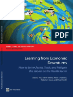 Leaning from economics downturns