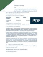 JUSTIFICACIÓN DEL PROGRAMA DE INVERSIÓN