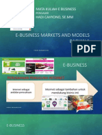 3. E Business Markets and Models Part 1
