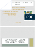concreción legal del marco penal