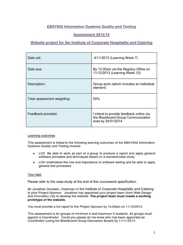university of westminster coursework cover sheet ca1
