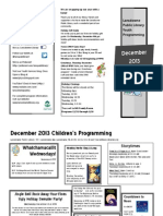 December events for children at the Lansdowne Public Library