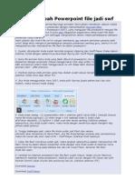 Tips Merubah Power Point File Jadi Swf