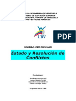 Estado y Resolución de Conflictos