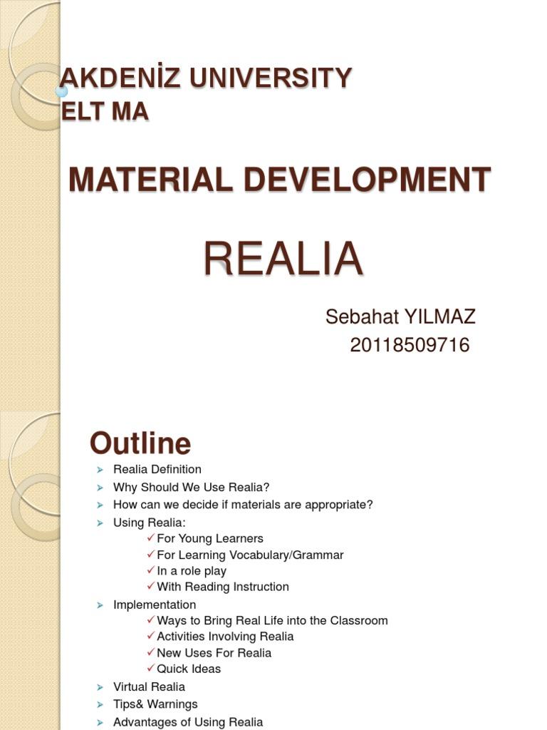 Using realia in the elf classroom english as a second or foreign using realia in the elf classroom english as a second or foreign language language education falaconquin