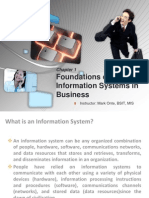 MIS Laudon Chapter 1 - Foundations of is in Business