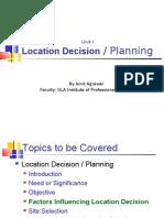 Unit I_Location Decision