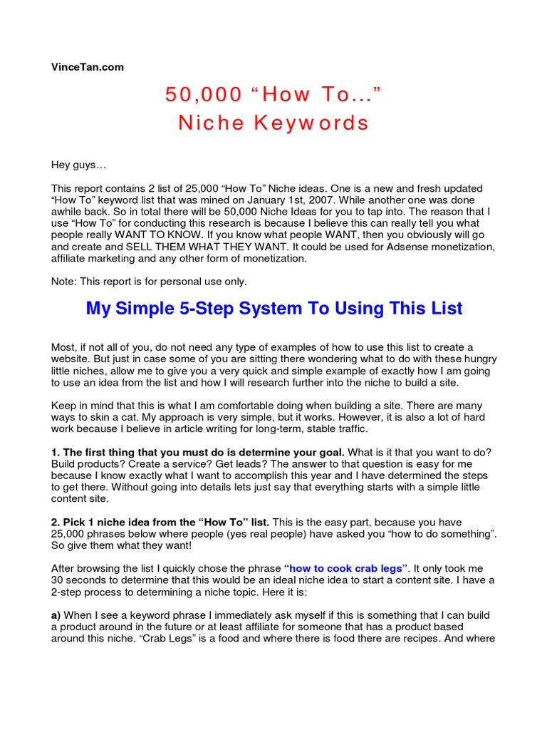 50 000 niche ideas ad sense search engine optimization