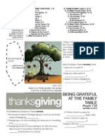 Thanksgiving Psalm 116 Handout 112413