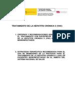 Tratamiento de La Hepatitis Cronica C (VHC)