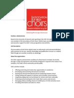 Administrator Job Description Nov 2013