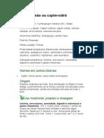 Capim-Limão - Cymbopogon citratus (DC.) Stapf. - Ficha Completa Ilustrada