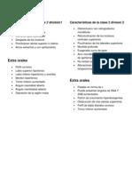 Características de la clase 2 división1