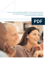 Private Equity and Venture Capital in the European Economy An Industry Response to the European Parliament and the European Commission