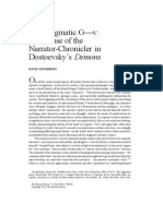 Dostoievski Demons the Enigmatic G