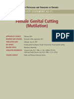 CPSO Guidelines Female Circumcision