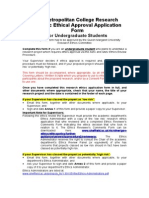 Akmi Metropolitan College Research Generic Ethical Approval Application Form