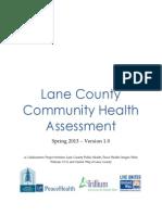 Lane County Community Health Needs Assessment 2013