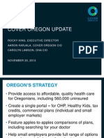 Cover Oregon Update Presentation