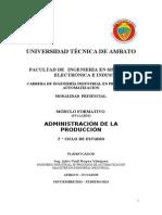 MÓDULO ADMINISTRACION DE LA PRODUCCION _2013(2do sem)