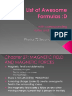List of Awesome Formulas2ndLongExam