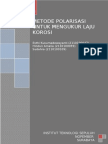Metode Polarisasi Untuk Mengukur Laju Korosi Point