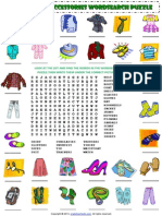 Clothes and Accessories Wordsearch Puzzle Vocabulary Worksheet 1 (1)