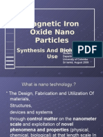 Magnetic Iron Oxide Nano Particles Synthesys and Bio Medical Use