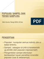 Materi 6 & 7. Populasi, Sampel & Teknik Sampling