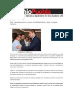 07-08-2013 Sexenio Puebla - Entrega RMV Mil 165 Millones de Los Ramos 28 y 33