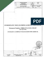 Hydrostatic Test, Flushing & Drying Procedure