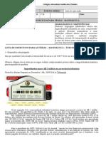 A LISTA DE EXERCÍCIOS PARA FÉRIAS - 3 ANO