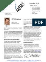 KYDS Newsletter for November 2013