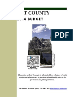 Routt County 2014 Proposed Budget Document
