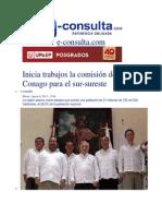06-08-2013 e-consulta.com - Inicia trabajos la comisión de la Conago para el sur-sureste