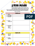 4th grade role model fill out