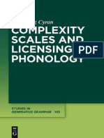 Complexity Scales and Licensing in Phonology (2010)