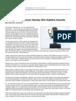 Courageous Typhoon Heroes Win Adelina Awards