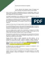 Resumen de Corrientes de La Ling Examen Final.